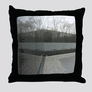 Vietnam war memorial wall reflection Throw Pillow