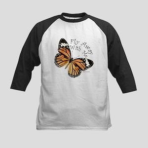 Monarch Butterfly Kids Baseball Jersey
