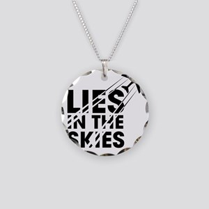 Chemtrails Necklace Circle Charm