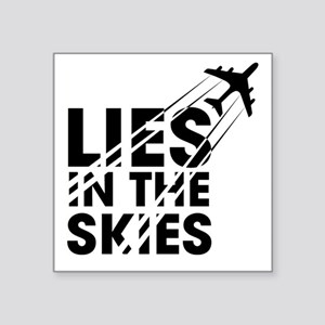"Chemtrails Square Sticker 3"" x 3"""