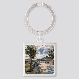 The Seine at Bougival Square Keychain
