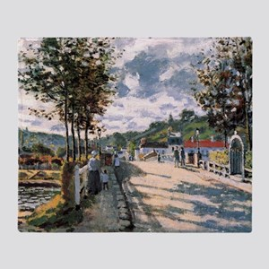 The Seine at Bougival Throw Blanket