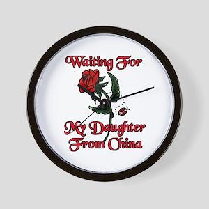 Rose and Ladybug Waiting China Adoption Wall Clock