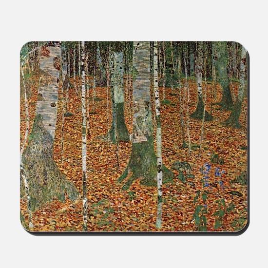 Klimt Birch Forest Mousepad