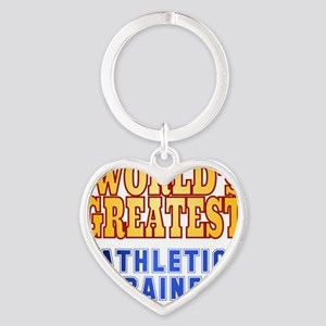 World's Greatest Athletic Trainer  Heart Keychain