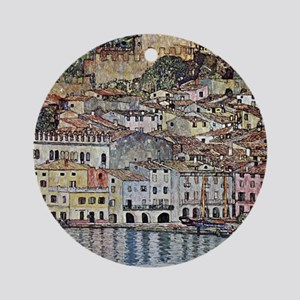 Malcesine on Lake Garda Round Ornament