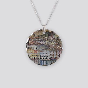 Malcesine on Lake Garda Necklace Circle Charm