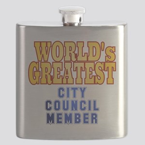 World's Greatest City Council Member Flask