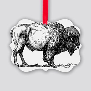 Buffalo/Bison Shirt Picture Ornament