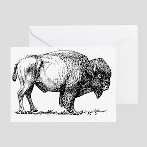 Buffalo/Bison Shirt Greeting Card