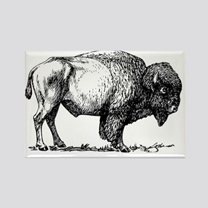 Buffalo/Bison Shirt Rectangle Magnet