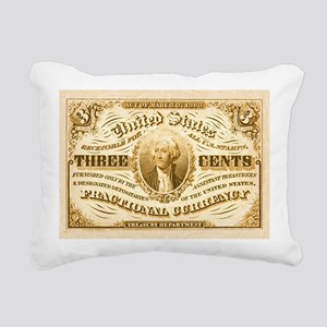 Vintage US currency Rectangular Canvas Pillow