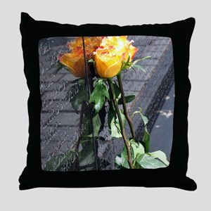 Vietnam Veterans Memorial Wall Rose Throw Pillow