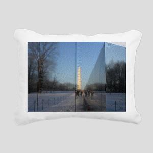 vietnam war memorial was Rectangular Canvas Pillow