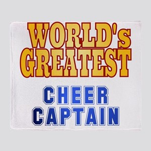 World's Greatest Cheer Captain Throw Blanket