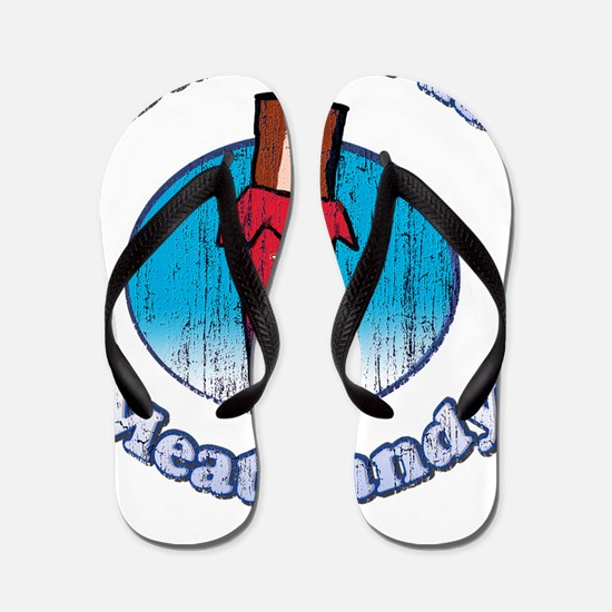 Vintage Bacon is Meat Candy02 Flip Flops