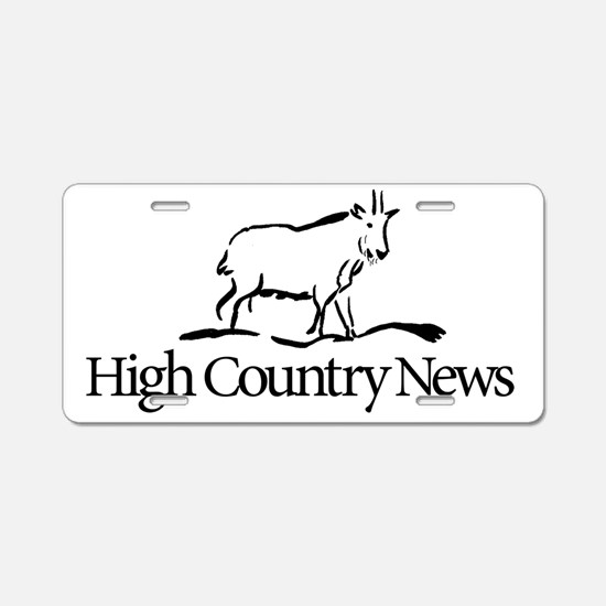 Retro High Country News log Aluminum License Plate