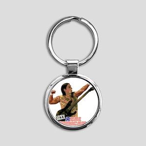 ERock Real American Round Keychain