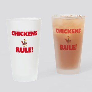 Chickens Rule! Drinking Glass