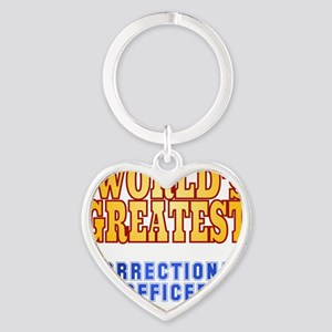 World's Greatest Correctional Offic Heart Keychain