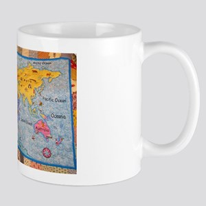 WORLD MAP QUILT Mug