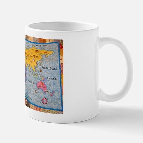 WORLD MAP QUILT Mug
