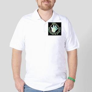 Shh Treatment In Progress Green Hand Golf Shirt