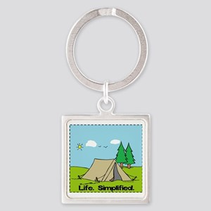 Life Simplified Outdoors Square Keychain
