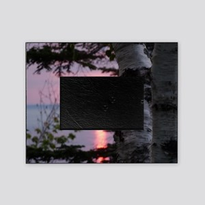 Sunset Lake Superior Picture Frame