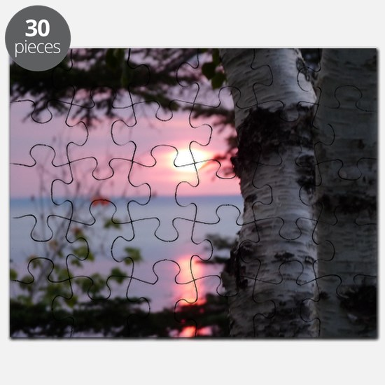Sunset Lake Superior Puzzle