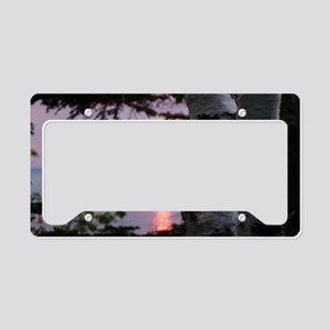Sunset Lake Superior License Plate Holder