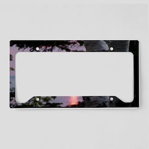 Sunset Lake Superior License Plate Holder
