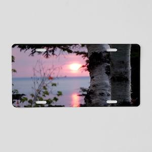 Sunset Lake Superior Aluminum License Plate