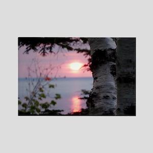 Sunset Lake Superior Rectangle Magnet