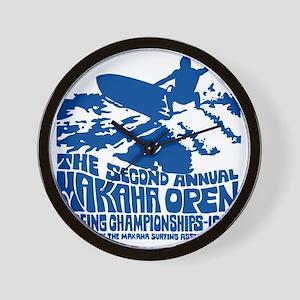 Makaha Surfing 1968 Wall Clock