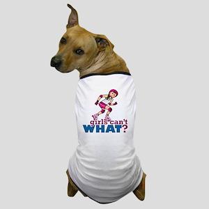 Pink Roller Derby Girl Dog T-Shirt