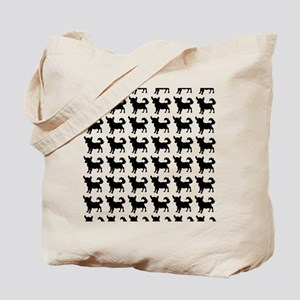 Chihuahua Silhouette Flip Flops In Black Tote Bag
