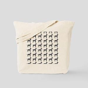Dalmatian Silhouette Flip Flops In Black Tote Bag