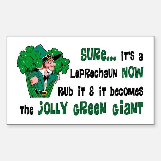 Leprechaun vs. Green Giant Rectangle Decal