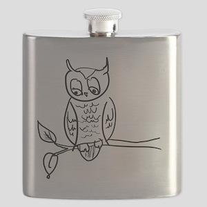 Little Hoot - Owl on Branch Flask