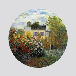 The Garden of Monet at Argenteuil Round Ornament