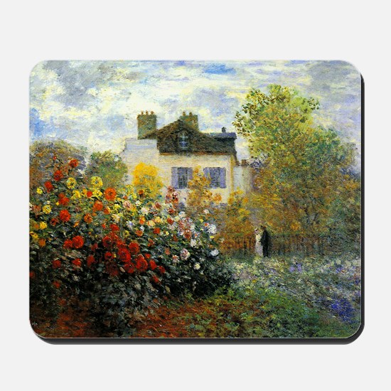 The Garden of Monet at Argenteuil Mousepad
