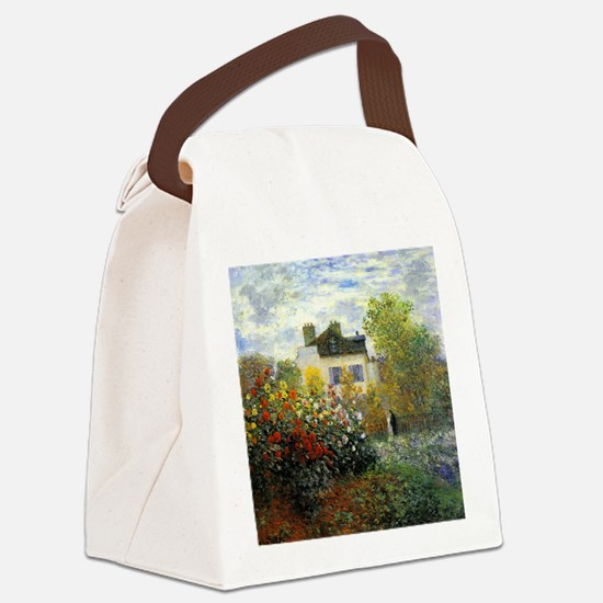 The Garden of Monet at Argenteuil Canvas Lunch Bag