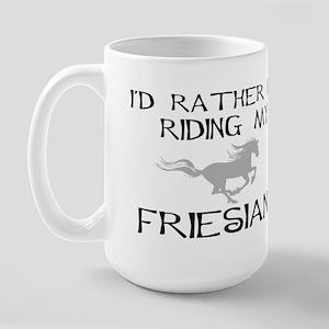 I'd Rather...Friesian Large Mug