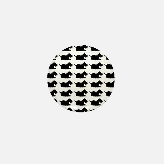 Schnauzer Silhouette Flip Flops In Bla Mini Button