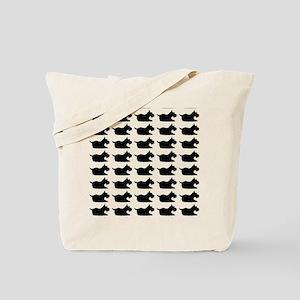 Schnauzer Silhouette Flip Flops In Black Tote Bag
