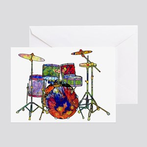 Wild Drums Greeting Card