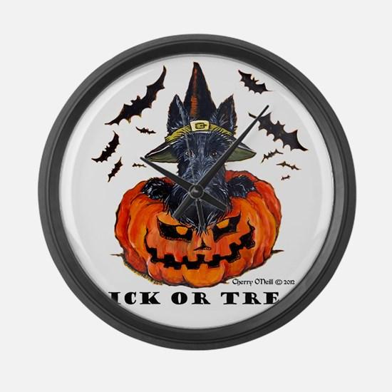 Scottie Witch Large Wall Clock