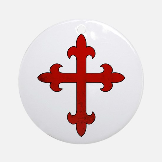 Crusader Cross Round Ornament