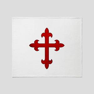 Crusader Cross Throw Blanket